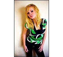 Sanna in green Photographic Print