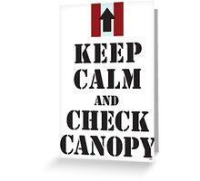 CHECK CANOPY - PATHFINDER PLATOON Greeting Card