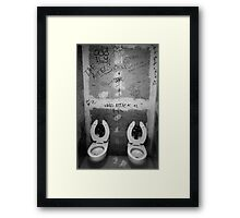 First punk toilet ever! Framed Print