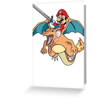 Mario x Charizard Greeting Card