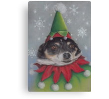 A Furry Christmas Elf Canvas Print