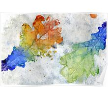 Colorful Oak Leaves 2 Poster