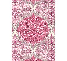 Happy Place Doodle in Berry Pink, Cream & Mauve Photographic Print