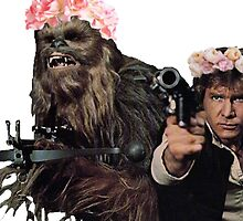 Hans and Chewbacca with flower crown                                                                           by sherlokian