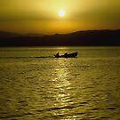 Sunset fishing by Peco Grozdanovski