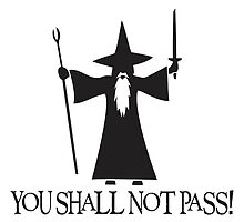Gandalf - You shall not pass! by Pamajxd3