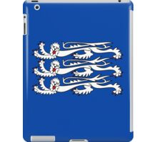 Three Lions, Royal Banner of England, UK, Britain, British, Knights iPad Case/Skin
