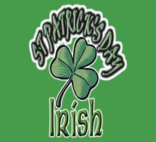 St PATRICK'S DAY, IRISH, EIRE, Ireland, USA, Lucky Clover by TOM HILL - Designer