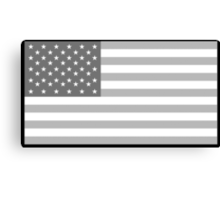 American Flag, Stars & Stripes, in Grey, USA, America, Pure & Simple Canvas Print