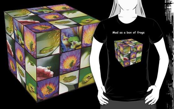 Mad as a box of frogs - darks by Mel Brackstone