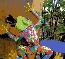 Comic Abstract Tree Frog by steelwidow