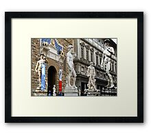 All About Italy. Piece 15 - Florence. David is Everywhere Framed Print