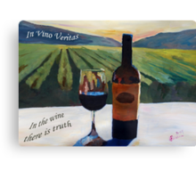 In vino veritas - in the wine there is truth Canvas Print