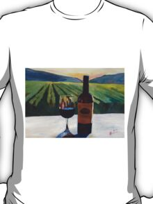 Napa Valley Wine Bottle with Red Wine T-Shirt