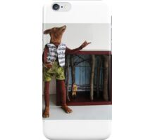 Peter and the Wolf - art doll sculpture mixed media art iPhone Case/Skin