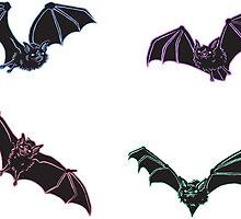 Pastel Bat Sticker Set by HeyRockee