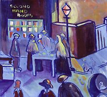Second hand books (from my original acrylic painting) by sword