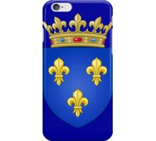 Royal French Coat of Arms, 1376–1515 iPhone Case/Skin