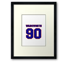 National football player Andre Wadsworth jersey 90 Framed Print