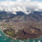 Diamond Head Crater Aerial View by pbischop