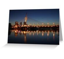 The Bridge Over Calm Waters Greeting Card