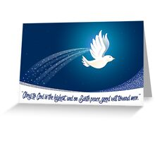 Peace Dove Christmas Card - Scripture Greeting Card