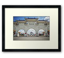 Chiang Kai-Shek Memorial Plaza, Taipei, Taiwan Framed Print