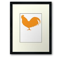 Rooster cock cockerel in orange Framed Print