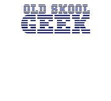 OLD SKOOL ibm GEEK Photographic Print