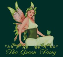 Absinthe - The Green Fairy - With Text by SpiceTree