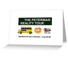 The Real Peterman Reality Bus Tour Shirt Seinfeld Greeting Card