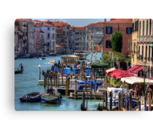 The Busy Grand Canal Canvas Print