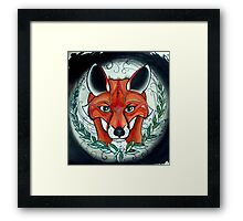 sly fox tattoo art Framed Print