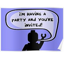 I'M HAVING A PARTY AND YOU'RE INVITED Poster