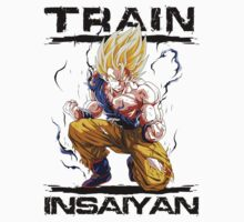 Train insaiyan - Goku Super Saiyan by BeastStudios