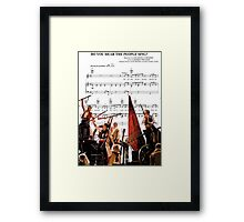 Do You Hear the People Sing - Les Miserables Framed Print