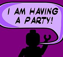 """""""I AM HAVING A PARTY"""" Invitation  by ChilleeW"""