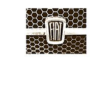 Fiat 128 Honeycomb Grill Photographic Print