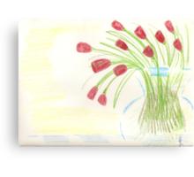 Jonathan James - modern tulips  Canvas Print
