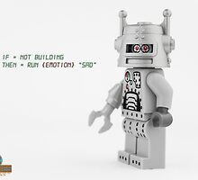 LEGO Silver Roboter by Peter Kappel