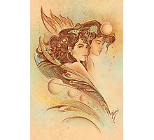 """""""THE GEMINI"""" - Protective Angel for Zodiac Sign Photographic Print"""