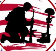 Fallen Soldier  Never Forget Sticker