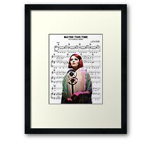 Maybe This Time - Cabaret Framed Print