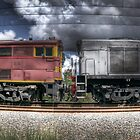 Diesel Electric Locomotives 4473 and 4501 by Clayton Haynes