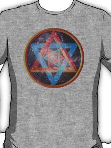 Faded Geometric Galaxy  T-Shirt