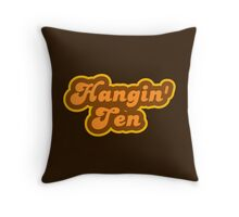 Hangin' Ten - Retro 70s - Logo Throw Pillow