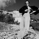 Janie on the rocks by Paul Martin