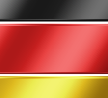 German Flag - Germany - Metallic Sticker