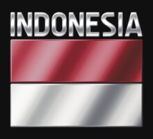 Indonesia - Indonesian Flag & Text - Metallic by graphix