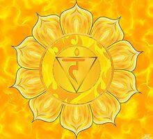 Solar Plexus Chakra  with yellow flare BG by GypsyOwlProduct